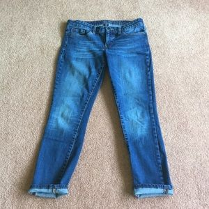 Gap skinny roll up jeans capris size 4 / 27